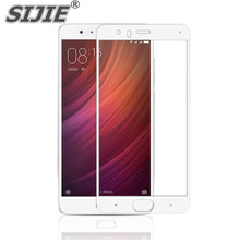 SIJIE Tempered Glass For xiaomi 6 mi6 phone full screen protect cases Cover HOT discount free gift black gold blue White Colour