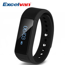 2017 Excelvan i5 Plus Waterproof Smart Bracelet With Fitness Moniter Bluetooth For Women and Men Compatible With IOS Android(China)