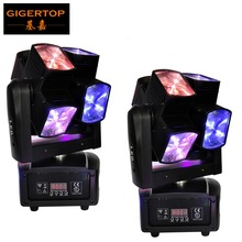 Factory Directly Supply 2 Units Led Super Beam Moving Head Light Cross Tilt Arm Rectangle 10 Degree Lens Colorful Beam Scanner(China)