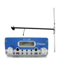 FU-15A 15W long range wireless audio transmitter fm radio  and 1/2 wave Dipole antenna A KIT Free shipping