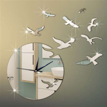 *DIY Clock Bird&Moon Acrylic Combination Of Decorative Clocks Living Room Wall Clock Mirror Wall Clock Manufacturers Wholesale
