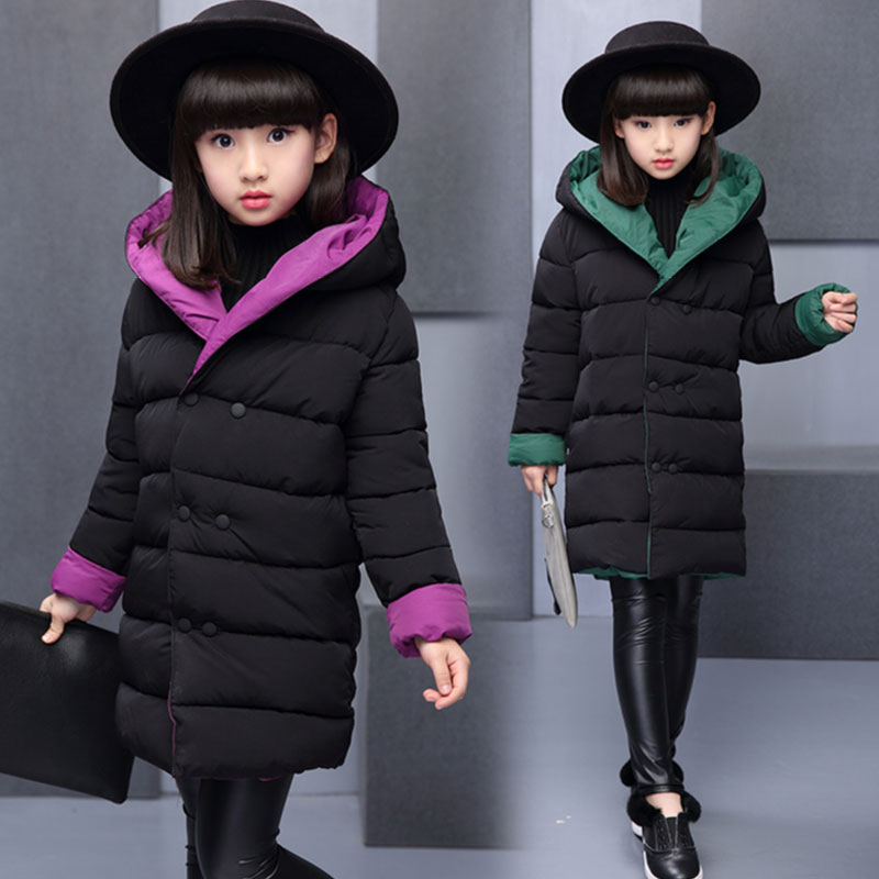 Childrens clothing girls jacket outerwear for toddler girls kids clothes winter wear thick cotton-padded jacket coats jackets<br>