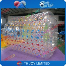 1.0mm pvc 2m inflatable water roller, inflatable walking roller, inflatable roll inside ball for water pool or sea