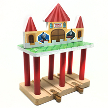 p131Free Shipping Thomas luxury wood track accessories scene beautiful station compatible Thomas train wood track children's toy