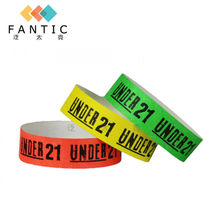 cheap custom wristbands no minimum,wristbands for short term event,qr code adjustable id bracelet(China)