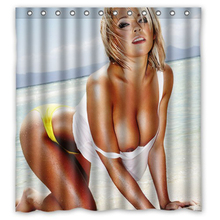Seabeach Sexy Girl Custom Unique Polyester Bath Waterproof Shower Curtain Bathroom Products Curtains 48x72, 60x72, 66x 72 inches