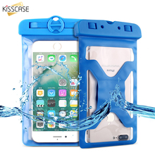 KISSCASE Swimming Waterproof Case For iPhone 7 6s 6 Plus 5 5s se Universal 6.2 Underwater Bags Waterproof Coque Foudas + Lanyard(China)