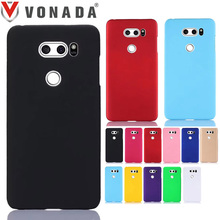 Vonada PC Hard Case for LG V30 Colorful Froste Matte Slim Plastic Shell Rubber Rugged Hard Phone Back Case Cover(China)