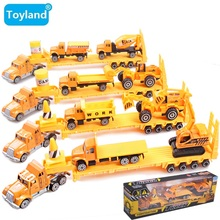 HOT Sales Alloy Engineering car series Engineering transport vehicle/Dump truck/mixer Car/Big truck toy model toy for children(China)
