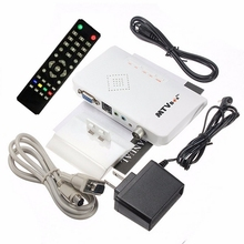 1pc Portable Digital TV Box VGA LCD External PC TV BOX Digital Program Receiver Tuner HDTV HD 1080P+Speaker