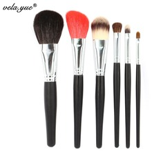 Professional Makeup Brushes Set 6 Soft Nature Beauty Tools Kit for Powder Foundation Blush Bronzer Concealer Eyeshadow Lipstick(Hong Kong,China)