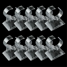 10pcs/lot Transparent Plastic Wrist Watch Display Holder Rack Store Shop Show Stand Shop Retail Clear Plastic Display EQ7334(China)