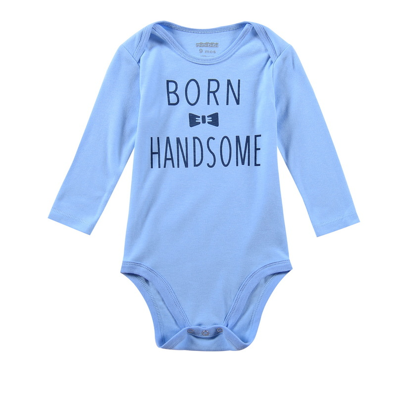 Baby Boy Clothing Letter Born Handsome Rompers For Newborn Boys Long Sleeve Romper Infant Clothes