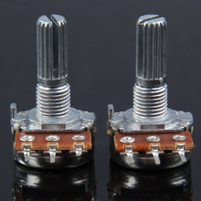 100% New 1 pair B500K Guitar Split Shaft Linear Taper Potentiometer Volume Tone Pot  FE5#