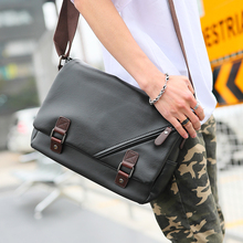 2017 PU Leather Men Messenger Bags Fashion Trend School Traveling Casual Single Shoulder Satchel Male Cross Body Bag(China)