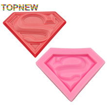 Tope NEW Arrived Superman Mask 3D Fodant Sugar Craft Soap Mold Face Moulds for Cake chocolate Decorating Baking Tools C3035