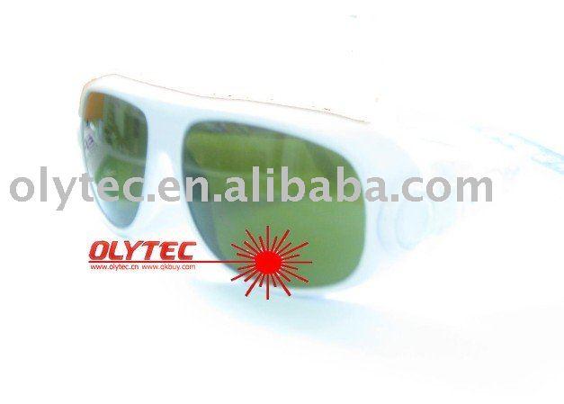 OLY-IPL-3 IPL safety glasses 200-2000nm, CE certified, O.D 4+  good V.L.T% white frame<br>