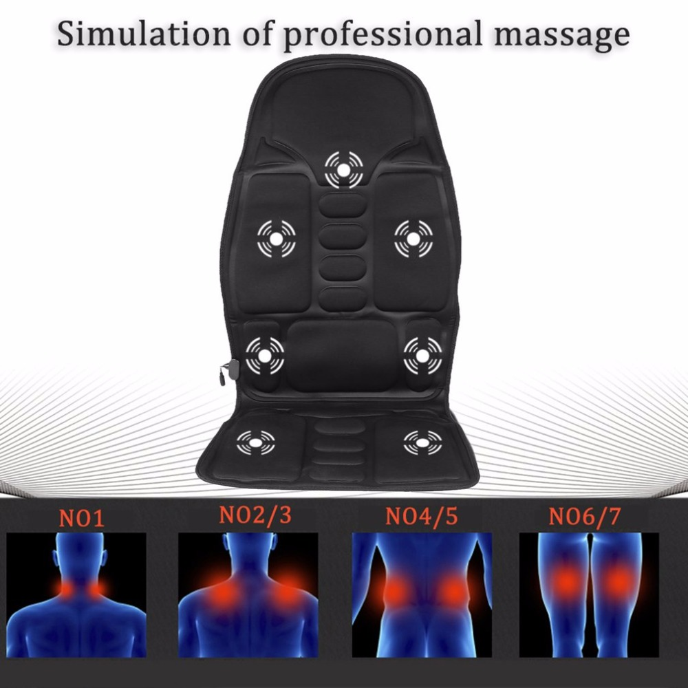 Professional Car Household Office Full Body Massage Cushion Lumbar Heat Vibration Neck Back Massage Cushion Seat<br>