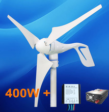 400W home use power supply windmill turbine Generator + charger regulator controller+500w inverter