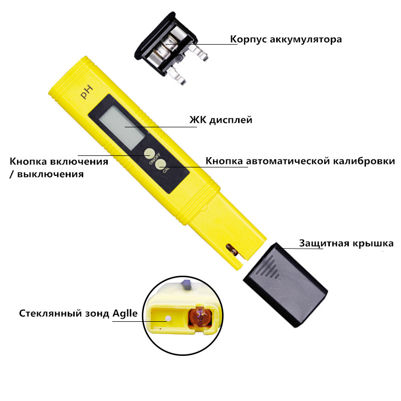 By DHL Fedex 100pcs PH Meter Digital Tester automatic calibration+ Water Quality Purity TDS Tester with Titanium alloy probe 16% 7