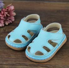 TipsieToes Brand High Quality Sheepskin Leather Kids Children Moccasins Sandals Shoes For Boys And Girls New 2017 Summer