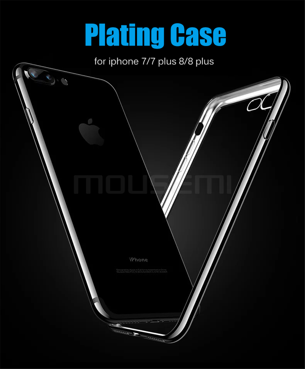 MOUSEMI Phone Cases For iPhone 7 Case Transparent Silicone Plating Soft Cover For iPhone 7 Plus Case For iPhone 77 Plus (1)