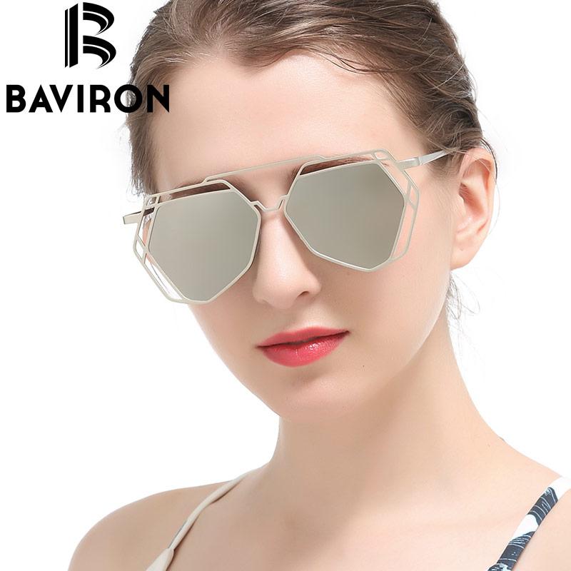 BAVIRON Hollow Peltate Sunglasses Women Mirror Alloy Aviator Glasses Art Deco Europe Punk Classic Retro Cool Gafas De Sol 8015<br><br>Aliexpress