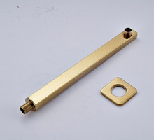 Wholesale and Retail Solid Brass Shower Arm Wall Mounted Golden