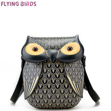 FLYING BIRDS Owl Famous Brand Bags Women Leather Handbags Shoulder Bolsas Top quality Mini Women's Messenger bags Designer Tote(China)