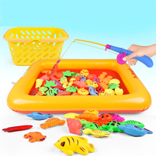 50 Pieces set Magnetic Magnet fishing toys game Simulation Fish pond fishing pole kids children classic toys birthday gift