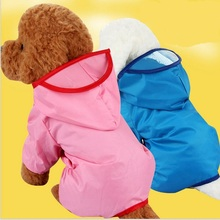 Pet dog raincoat and waterproof raincoat Safe Reflective Dogs Clothes Water Resistant Pet Coat Spring Outdoor Breathable Sportsw(China)