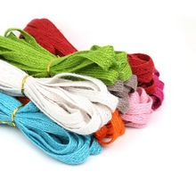 10x1.5mm 5m/lot 8 Colors Hemp Jute Cord Rope String For DIY Necklace Jewelry Craft Gift Packing Hang Tag String Handmade(China)