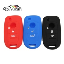 Silicone Car Key Shell Case 3 Buttons Remote Control Key Protector Cover for FIAT Toro 500X For Dodge Neon Key(China)