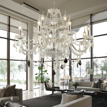 European Candle Crystal Chandeliers Ceiling Bedroom Living Room Modern E14 Lustres 12 Arms Crystal Chandelier Lighting