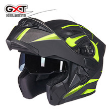 Brand GXT Flip Up Motorcycle Helmet Double lens full face helmet High quality DOT approved Moto cascos motociclistas capacete(China)