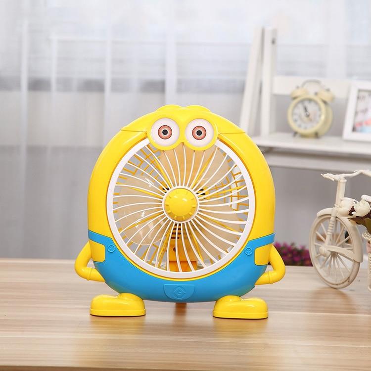 2017 New Arrival Minions Fan 2 Gear Win Speed Electric Fan Summer Cooling Ventilador <br>