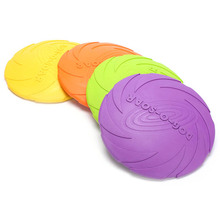 Outdoor Soft Eco-friendly Silicone Rubber Dog Frisbee Pet Tooth Resistant Fetch Toys Dogs Training Flying Disc Playing Toy Int(China)