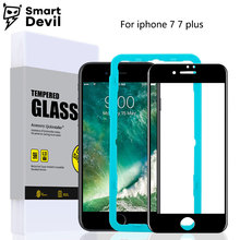 SmartDevil screen protective film for iphone 7 7 plus tempered glass 3D 9H hard mobile phone protector glossy full coverage film(China)
