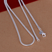 50cm Men's necklace jewelry 3mm long size option 925 sterling silver long necklace snake chains n192 gift pouches free(China)