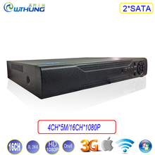 Network Video Recorder XMeye Hisiclion Chip 2*SATA 16CH*1080P/4CH*5M Onvif NVR Metal Case for CCTV security IP camera montior