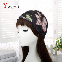 New Fashion Unique Lace Turban Flower Headwrap Hair Wrap Cover Women Floral Headband
