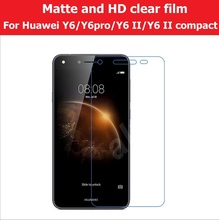 Matte & Glossy Film For Huawei Y6 II / 2/ pro Scren Protector Film For Huawei 2 compact HD LCD and Anti-glare screen guard film