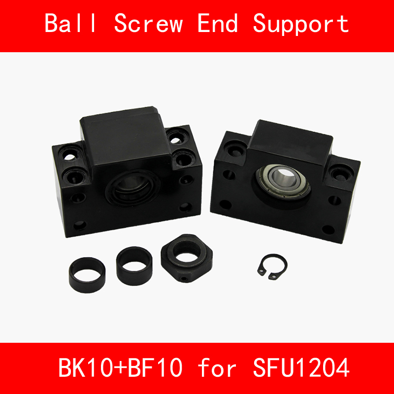 BK10+BF10 Set : 1 pcs BK10 and 1 pcs BF10 for SFU1204 Ball Screw End Support CNC parts 3d print BK/BF10<br>