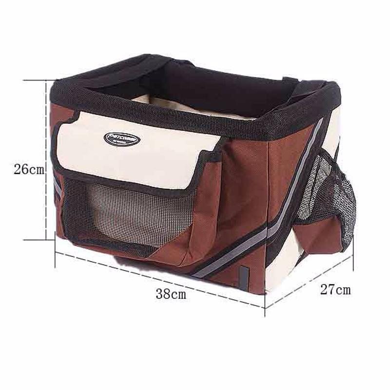 Pet dog bicycle carrier bag5