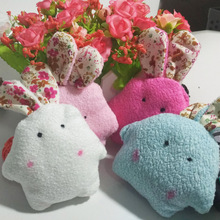 12pc 9CM Pearl Rabbit Random Colors Plush TOY rabbit DOLL Phone Strap DOLL Stuffed TOY Wedding Gift Bouquet Decor Soft TOY