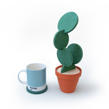 New Household creative Cactus Coasters Place Mat Office Supplies Coffee Cup Mat Placemat Table Desk Decor DIY Detachable Coaster(China)
