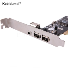 kebidumei 4 Ports Firewire IEEE 1394 4/6 Pin PCI to 1394 DV Card Controller Video Capture Card Adapter for HDD MP3 PDA(China)