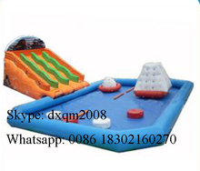 PVC factory customized inflatable water park pool /inflatable water park toys for amusement park /inflatable water slide pool