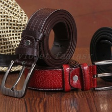 Men's Classic Fashion Waistband Casual Genuine Leather Waistbelts Buckle Belts