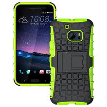 Wellendorff for HTC One M10 Tire Pattern Heavy Duty Military Case Armor Defender Rugged Kickstand Tough Hybrid Protective Cover